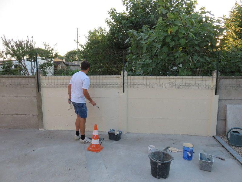 Peinture cloture beton exterieur